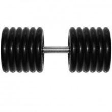 Гантель неразборная 61 кг черная