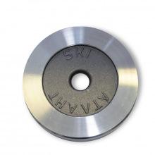 Диск металлический АТЛАНТ вес 5 кг диаметр 26мм