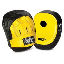 Лапы боксерские GREEN HILL LIZARD черно-желтые