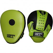 Лапы боксерские изогнутые GREEN HILL зелено-черные