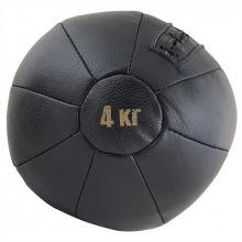 Медбол FS№4000, 4 кг, нат. кожа