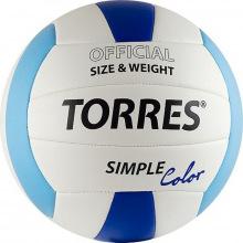 Мяч волейбольный №5 TORRES Simple Color люб.