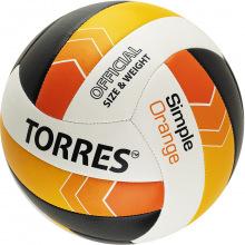 Мяч волейбольный №5 TORRES Simple Orange люб.