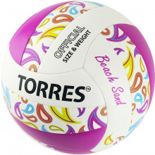 Мяч волейбольный любит. для пляжного волейбола TORRES Beach Sand Pink р.5