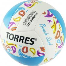 Мяч волейбольный любит. для пляжного волейбола TORRES Beach Sand Blue р.5