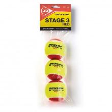 Мяч для большого тенниса Dunlop Stage 3 (RED) 3B