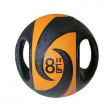 Мяч тренировочный (медицинбол) с хватами, 8 кг