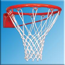 Сетка баскетбольная, толщина нити 2,6 мм, белая
