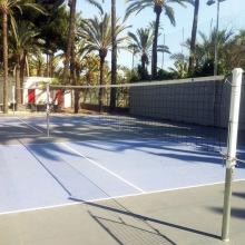 Сетка волейбольная EL LEON DE ORO без нижней и боковых лент. Стальной трос в ПВХ оболочке