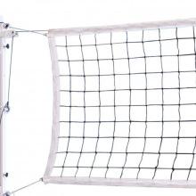 Сетка волейбольная, толщина нити 3,1 мм, черная, парашютная стропа, обшитая с 4-х сторон