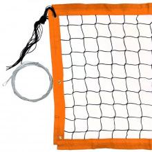 Сетка для пляжного волейбола, черная, 1 м* 8,5 м, обшитая с 4-х сторон, толщина нити 3,1 мм