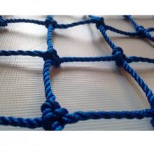 Сетка заградительная, ячейка 100*100, толщина нити 2,2 мм, узловая, синяя