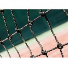 Сетка заградительная, ячейка 100*100, толщина нити 2,2 мм, узловая, черная