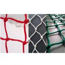 Сетка заградительная, ячейка 100*100, толщина нити 3,5 мм, узловая, белая/красная/зеленая