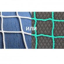 Сетка заградительная, ячейка 20*20, толщина нити 2,2 мм, безузловая, зеленая, белая