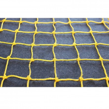 Сетка заградительная, ячейка 40*40, толщина нити 2,2 мм, узловая, желтая