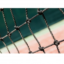 Сетка заградительная, ячейка 40*40, толщина нити 2,2 мм, узловая, черная