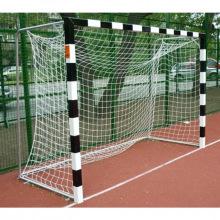Сетка для мини-футбольных/гандбольных ворот (2,0м*3,0м*1,0м*1,0м) нить 2,6 мм, цвет-белый/зеленый