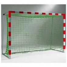 Сетка для мини-футбольных/гандбольных ворот (2,0м*3,0м*1,0м*1,0м) нить 3,5 мм, цвет- белый/зеленый