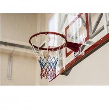 Сетка баскетбольная, толщина нити 3,5 мм, «Триколор», цветная
