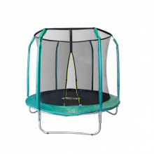 Батут 8 футов (зеленый) 2,44м с защитной сеткой (внутрь) б/л GB10201-8FT