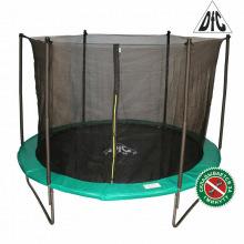 Батут 12 футов DFC JUMP складной, сетка, чехол, Зеленый (366см)