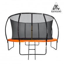 Батут 14 футов DFC KENGOO внутр.сетка, лестница, Оранж/Черн (427 см)