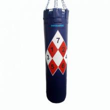 Боксерский мешок 45 кг СМКМР 30х120-45 с разметкой нат.кожа