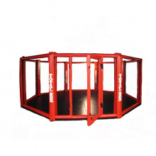 Ринг восьмиугольный с клеткой, без помоста, диаметром 5м