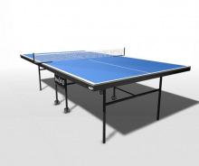 Стол теннисный для помещений складной усиленное игровое поле на роликах WIPS Royal