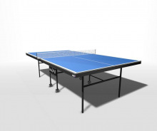 Стол теннисный для помещений складной усиленное игровое поле на роликах со встроенной сеткой WIPS Ro