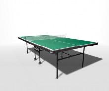 Стол теннисный влагостойкий на роликах с усилением игрового поля и встроенной сеткой WIPS Royal Outd