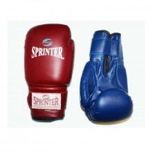 Перчатки боксерские 10 унц. синий и красный.