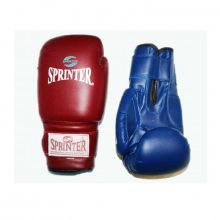 Перчатки боксерские 12 унц. синий и красный.