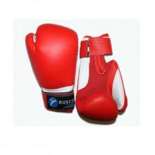 Перчатки боксерские 8 унц. детские кож.зам. красные