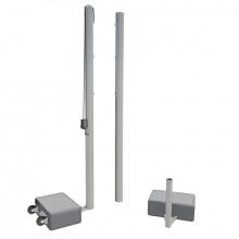 Волейбольные стойки с противовесами универсальные алюминивые профиль 100х120 мм (мобильные)