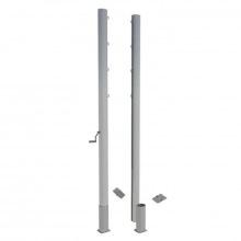 Волейбольные стойки универсальные алюминивые с механизмом натяжения сетки профиль 100х120 мм