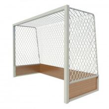 Ворота для хоккея на траве алюминиевые 3,66х2,14х0,9х1,2 м профиль 80х80 мм (стационарные)