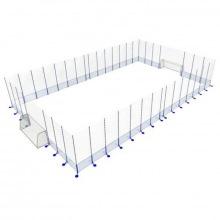 Игровая арена сборно-разборная алюминиевая 20х40 м (ворота 5х2х1,5 м)