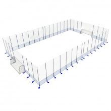 Игровая арена сборно-разборная алюминиевая 15х30 м (ворота 5х2х1,5 м)