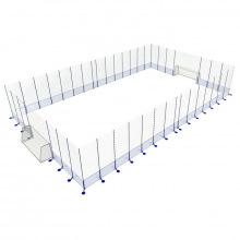 Игровая арена сборно-разборная алюминиевая 10х20 м (ворота 3х2х1 м)