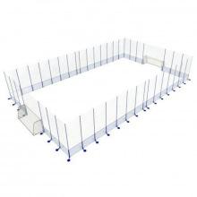 Игровая арена сборно-разборная алюминиевая 6х9 м (ворота 1,8х1,2х0,7 м)