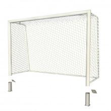 Ворота для мини-футбола/гандбол алюминивые 3х2 глубина ворот 1 м профиль 100х120 мм (стационарные)