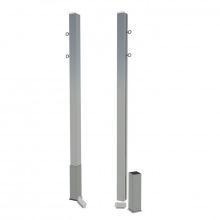 Бадминтонные стойки стационарные алюминиевые 80х80 мм