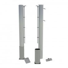 Теннисные стойки алюминивые профиль 100х120 мм (стационарные)