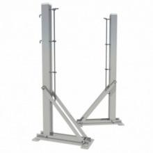 Теннисные стойки с башмаком алюминивые профиль 80х80 мм (стационарные)