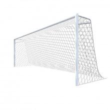 Ворота футбольные алюминивые 7,32х2,44 глубина ворот 2 м с верхними опорами под сетку (стационарные)