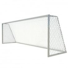 Ворота футбольные алюминивые 7,32х2,44 глубина ворот 2 м (мобильные)