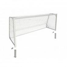 Ворота футбольные юношеские алюминивые 5х2 глубина ворот 1,5 м профиль 100х120 мм (стационарные)
