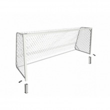 Ворота футбольные юношеские алюминивые 5х2 глубина ворот 1,5 м профиль 80х80 мм (стационарные)